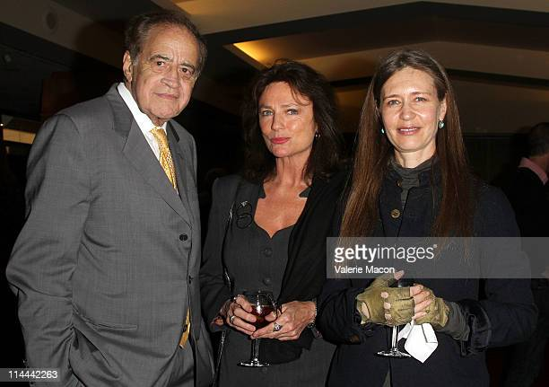 Producer Arthur Cohn actress Jacqueline Bisset and Marsha Valentinova attend the The Academy Of Motion Picture Arts And Sciences Premiere Of The...