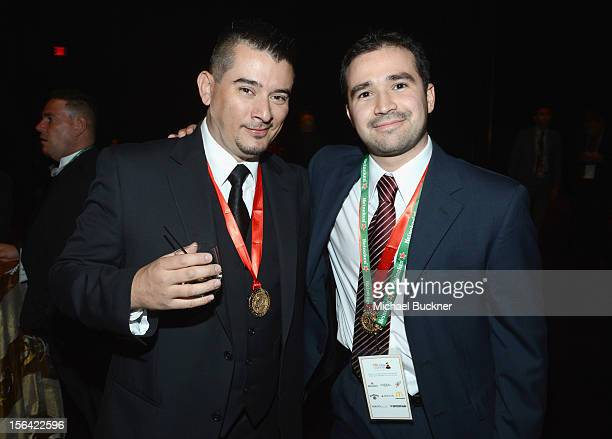 Producer Arturo Medina poses during the 2012 Person of the Year honoring Caetano Veloso at the MGM Grand Garden Arena on November 14 2012 in Las...