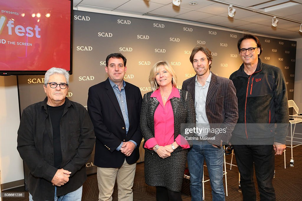 Producer at Eagle Rock Atlanta Gideon Amir, Owner of Mailing Avenue Stageworks John Raulet, President, Camera Division, Bling Digital Atlanta Ann Deguire, moderator Kevin Bar and Executive Vice President EUE/Screen Gems Atlanta Kris Bagwell attend 'Hollywood of the South: Georgia Studios' panel during Day Two of aTVfest 2016 presented by SCAD on February 5, 2016 in Atlanta, Georgia.
