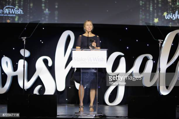 Producer Audrey Morrissey speaks onstage at the 2017 Make a Wish Gala on November 9 2017 in Los Angeles California