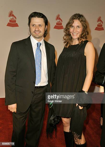 Producer Aureo Baqueiro and guest attend the 2008 Latin Recording Academy Person of the Year Tribute to Gloria Estefan held at George R Brown...