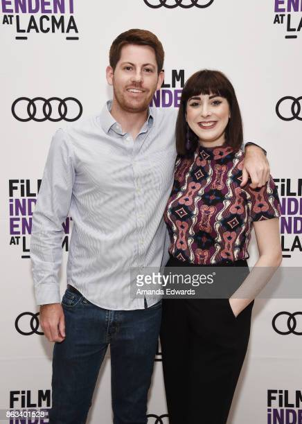 Producer Austin Francalancia and documentary subject Hana Barkowitz attend the Film Independent at LACMA Special Screening of '11/8/16' at the Bing...