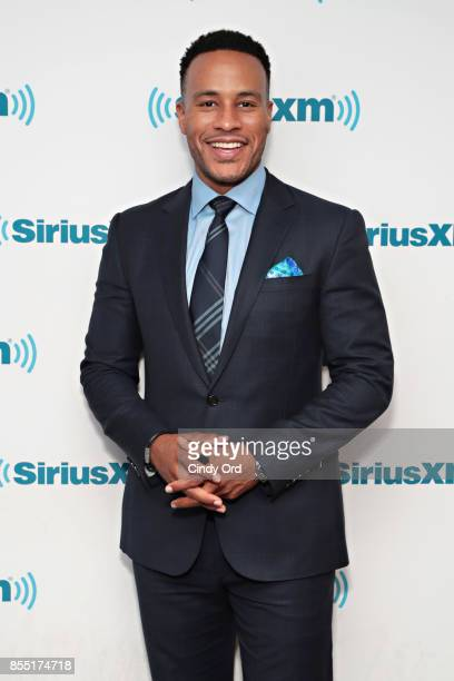 Producer/ author DeVon Franklin visits the SiriusXM Studios with American Heart Association to talk about heart failure on September 28 2017 in New...