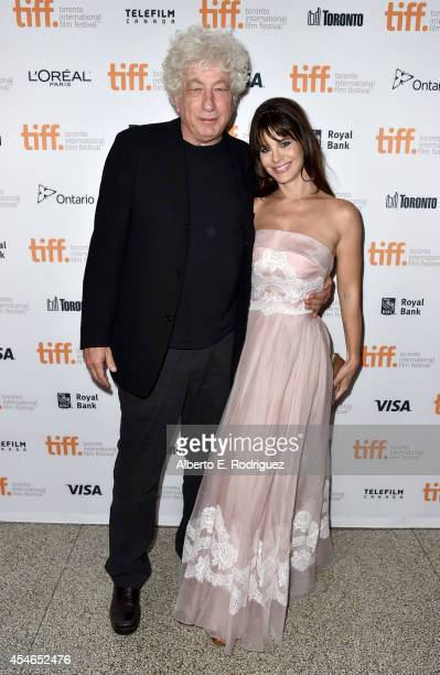 Producer Avi Lerner and Lucila Sola attend 'The Humbling' premiere during the 2014 Toronto International Film Festival at The Elgin on September 4...