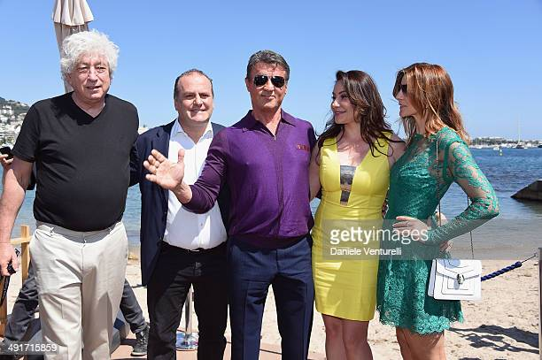 Producer Avi Lerner Pascal Vicedomini Sylvester Stallone Darlina Parlova and Clotilde Courau attends the Film Music Ischia Global Fest reception at...