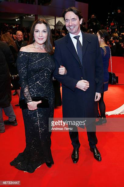 Producer Barbara Broccoli and CEO Sony Pictures Germany Martin Bachmann attend 'The Grand Budapest Hotel' Premiere during the 64th Berlinale...