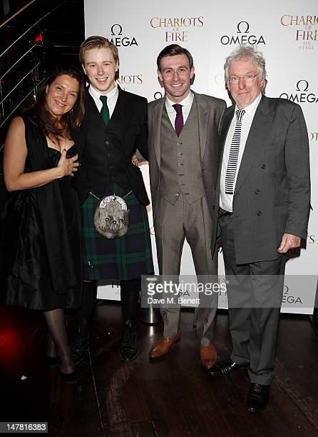 Producer Barbara Broccoli cast members Jack Lowden and James McArdle and producer Hugh Hudson attend an after party celebrating the press night...