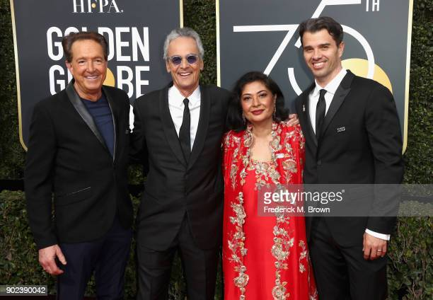Producer Barry Adelman executive producer Allen Shapiro HFPA President Meher Tatna and producer Michael Mahan attend The 75th Annual Golden Globe...