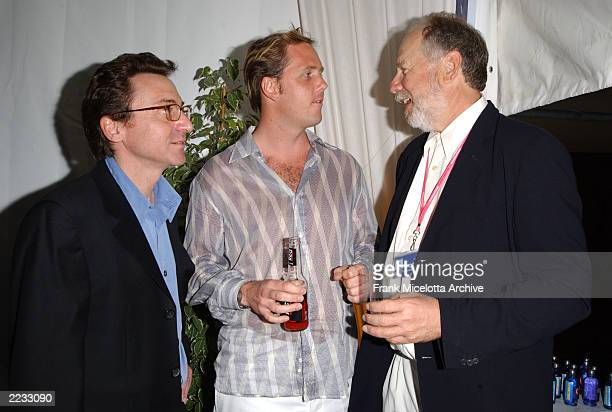 Producer Bart Rosenblatt actor Markus Thomas and Production consultant Jonathan Dana at the party for 'Scorched' at the 55th Cannes Film Festival in...