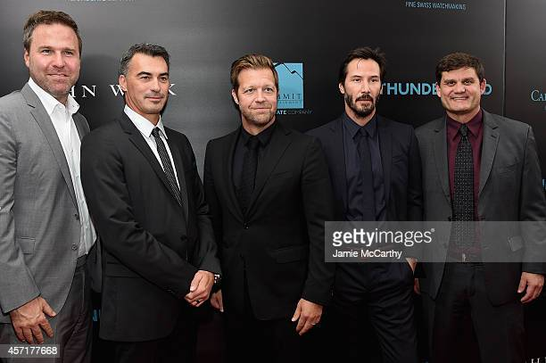 Producer Basil Iwanyk directors Chad Stahelski and David Leitch actor Keanu Reeves and Motion Picture Group of Lions Gate Entertainment Corp...