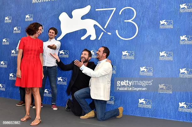 Producer Beatriz Bodegas director Raul Arevalo actors Antonio De La Torre and Luis Callejo attend a photocall for 'The Fury Of A Patient Man ' during...