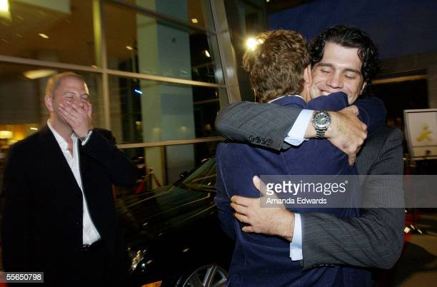 """Producer Beau Bauman, Julian Morris and Jeff Wadlow arrive at the premiere of """"Cry Wolf"""" at the Arclight Theaters on September 15, 2005 in Hollywood,..."""