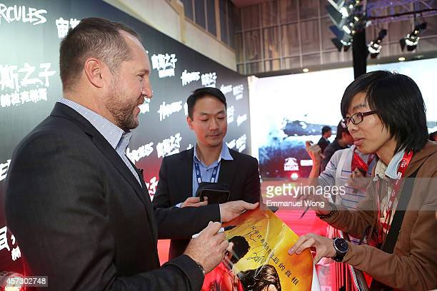 Producer Beau Flynn attends the Chinese Premiere of Hercules at the Wanda CBD on October 16, 2014 in Beijing, China.