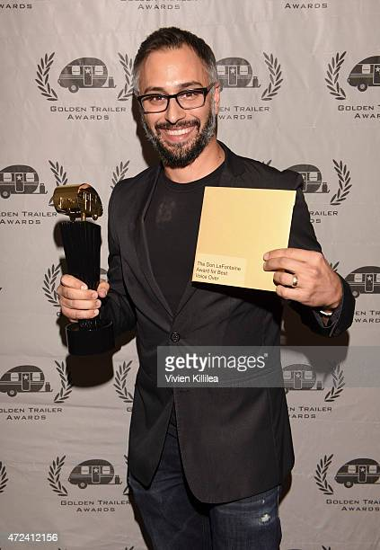 Producer Ben Andron accepts the Don LaFontaine Award for Best Voice Over Golden Trailer Award on behalf of the crew at the 16th Annual Golden Trailer...