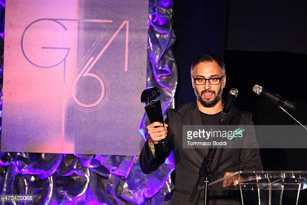 Producer Ben Andron accepts the Don LaFontaine Award for Best Voice Over Golden Trailer Award on behalf of the crew on stage during the 16th annual...