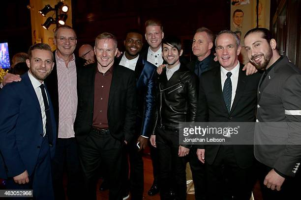 Producer Ben Bram CEO of RCA Records Peter Edge Kevin Olusola Scott Hoying Mitch Grassi of Pentatonix Head of AR for RCA Records Keith Naftaly...