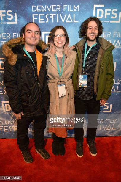 Producer Ben Gojer Director Ursula Kay Ellis and Producer Emerson Nosek of the film For George On His 30th Birthday on the red carpet closing night...