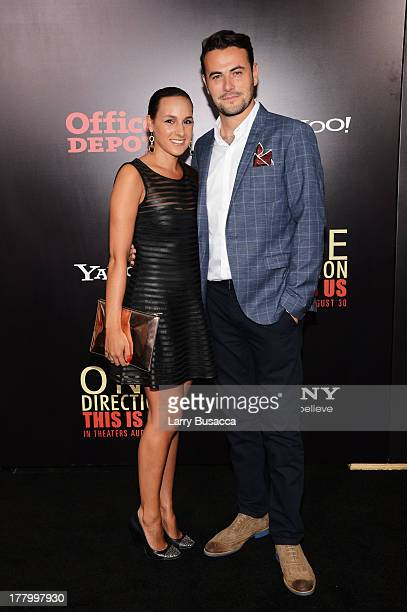 """Producer Ben Winston and Meredith Winston attends the New York premiere of """"One Direction: This Is Us"""" at the Ziegfeld Theater on August 26, 2013 in..."""