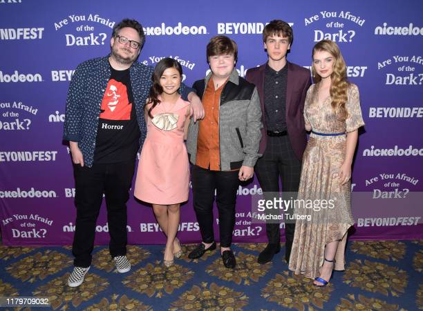 "Producer BenDavid Grabinski and actors Miya Cech, Jeremy Ray Taylor, Sam Ashe Arnold and Lyliana Wray attend the premiere of Nickelodeon's ""Are You..."