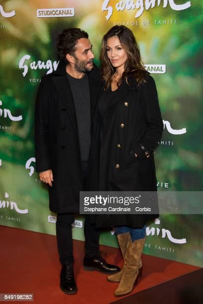 Producer Benoit Ponsaille and actress Nadia Fares attend the 'Gauguin Voyage De Tahiti' Paris Premiere at Cinema Gaumont Capucine on September 18...