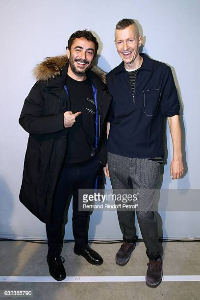 Producer Benoit Ponsaille and Stylist of 'Lanvin Men', Lucas Ossendrijver attend the Lanvin Menswear Fall/Winter 2017-2018 show as part of Paris...