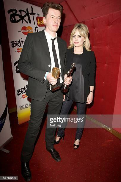 Producer Bernard Butler and singer Duffy pose at the Music Producers Guild Awards at Cafe de Paris on February 12 2009 in London England