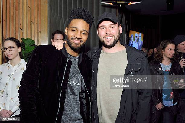 Producer Bernard Harvey and founder of SB Projects Scooter Braun attend the Chivas Regal Ultis Hosted Celebration Honoring Adam and Scooter Braun and...