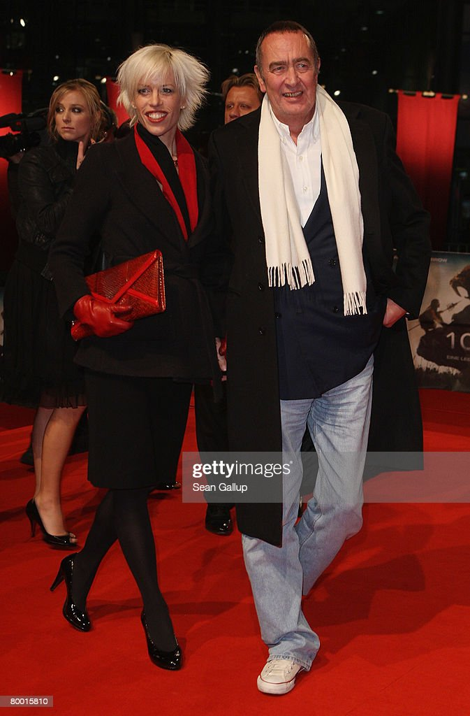 Producer Bernd Eichinger and his wife Katja Eichinger attend the world premiere of '10,000 B.C.' at the Sony Center CineStar on February 26, 2008 in Berlin, Germany.