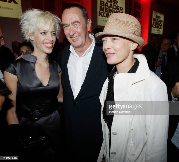 Producer Bernd Eichinger and wife Katja and actress Barbara Rudnik attend the 'The Baader Meinhof Complex' After Party at the 'Haus der Kulturen' on...