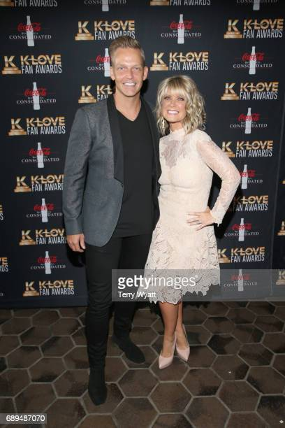 Producer Bernie Herms and singersongwriter Natalie Grant arrive at the 5th Annual KLOVE Fan Awards at The Grand Ole Opry on May 28 2017 in Nashville...