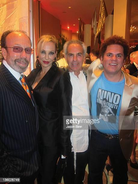 Producer Bernie Yuman Lisa Pilner designer Donald J Pliner and Pop Artist Romero Britto pose during Miami Beach Best Buddies Annual Gala pose at the...