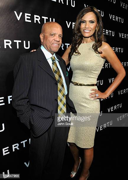 Producer Berry Gordy and Eskedar Gobeze arrive at Vertu and Gelila and Wolfgang Puck Celebrate the Oscars and Dream for Africa Foundation at CUT on...