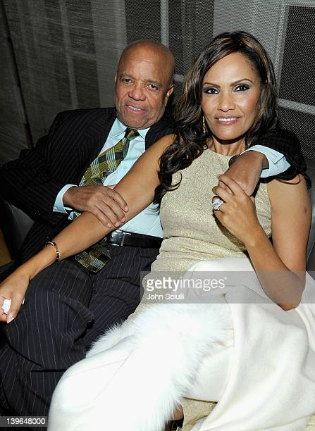 Producer Berry Gordy and Eskedar Gobeze attend Vertu and Gelila and Wolfgang Puck Celebrate the Oscars and Dream for Africa Foundation at CUT on...