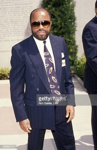 Producer Berry Gordy attends the funeral service for Sammy Davis Jr on May 18 1990 at Forest Lawn Memorial Park in Los Angeles California