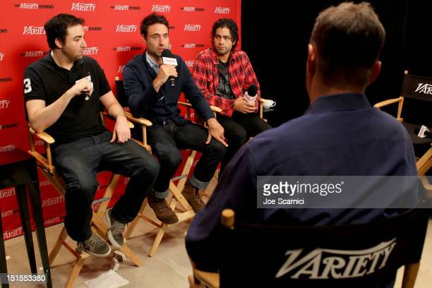 Producer Bert Marcus, Director Matthew Cooke and Producer Adrian Grenier at Variety Studio presented by Moroccanoil on Day 1 at Holt Renfrew, Toronto...