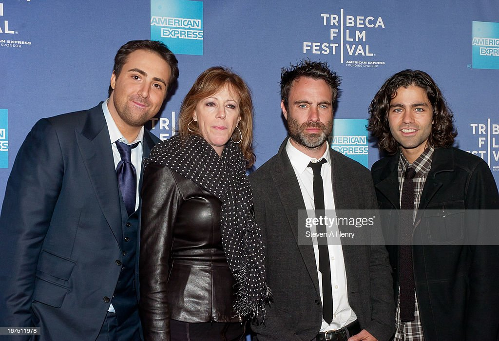 Producer Bert Marcus, Jane Rosenthal, director Matthew Cooke and actor Adrian Grenier attend Tribeca Talks: After the Movie 'How to Make Money Selling Drugs' during the 2013 Tribeca Film Festival at SVA Theater on April 25, 2013 in New York City.