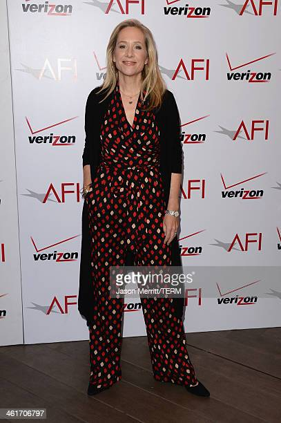 Producer Betsy Beers attends the 14th annual AFI Awards Luncheon at the Four Seasons Hotel Beverly Hills on January 10 2014 in Beverly Hills...
