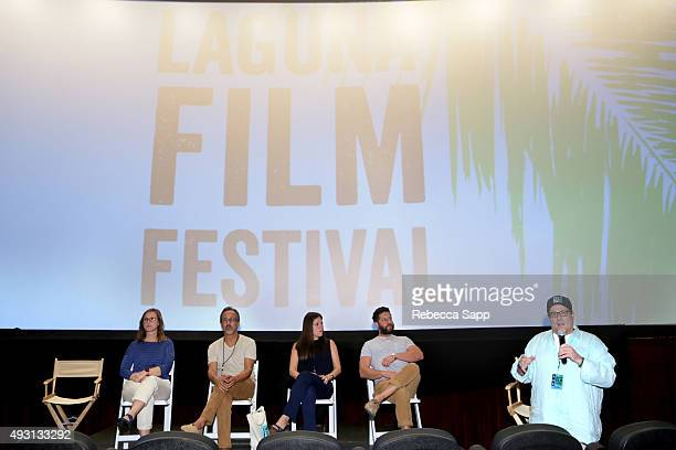 Producer Betsy Sullenger producer J Todd Harris WME agent Meredith WechterÊproducer Sean Robins speak with director Andy Fickman at the Hollywood...