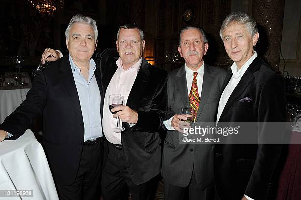 """Producer Bill Kenwright, and cast members Warren Clarke, Robert Demeger and Jeremy Clyde attend an after party celebrating Press Night of """"Three Days..."""