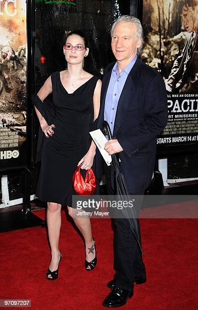 Producer Bill Maher and Cara Santa Maria arrive at the Los Angeles premiere of The Pacific at Grauman's Chinese Theatre on February 24 2010 in Los...