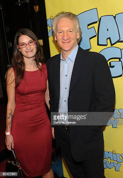 Producer Bill Maher and Cara Santa Maria attend Family Guy's Pre-Emmy Celebration at Avalon on September 18, 2009 in Hollywood, California.