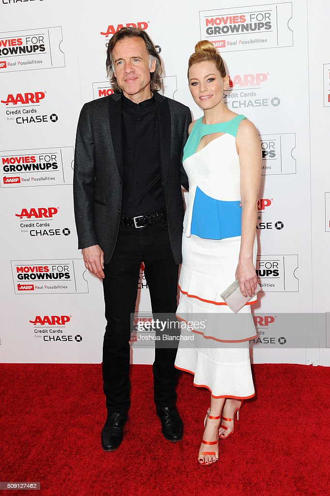 Producer Bill Pohlad (L) and actress Elizabeth Banks attend AARP's 15th Annual Movies For Grownups Awards at the Beverly Wilshire Four Seasons Hotel on February 8, 2016 in Beverly Hills, California.