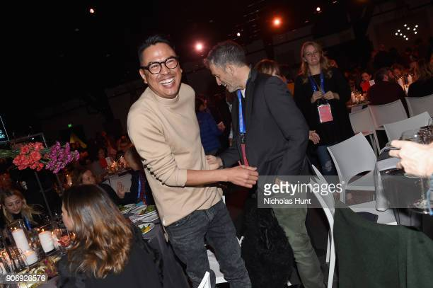 Producer Billy Luther and designer Kenneth Cole attend An Artist at the Table Cocktail Reception and Dinner during the 2018 Sundance Film Festival at...