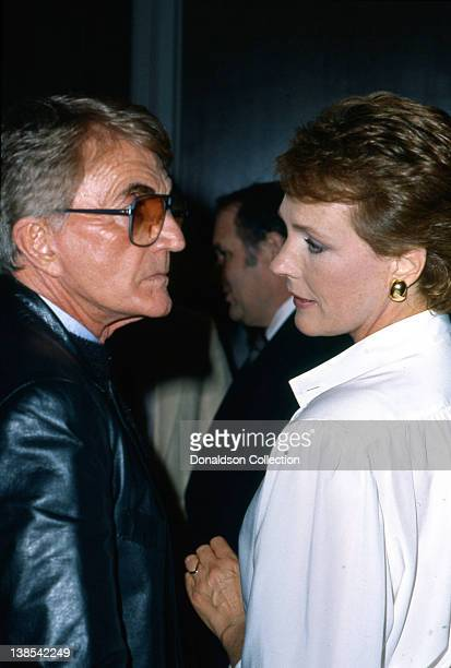 Producer Blake Edwards and his wife Julie Andrews attend an event in circa 1985 in Los Angeles California