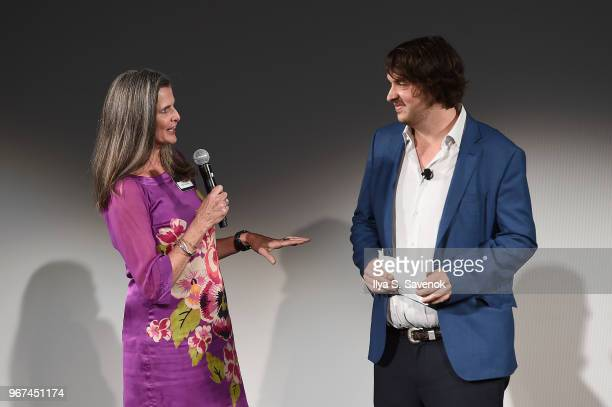 Producer 'Blue Planet II' Orla Doherty and OceanX Media Founder and Creative Director Mark Dalio speak onstage during the Launch Of OceanX a bold new...