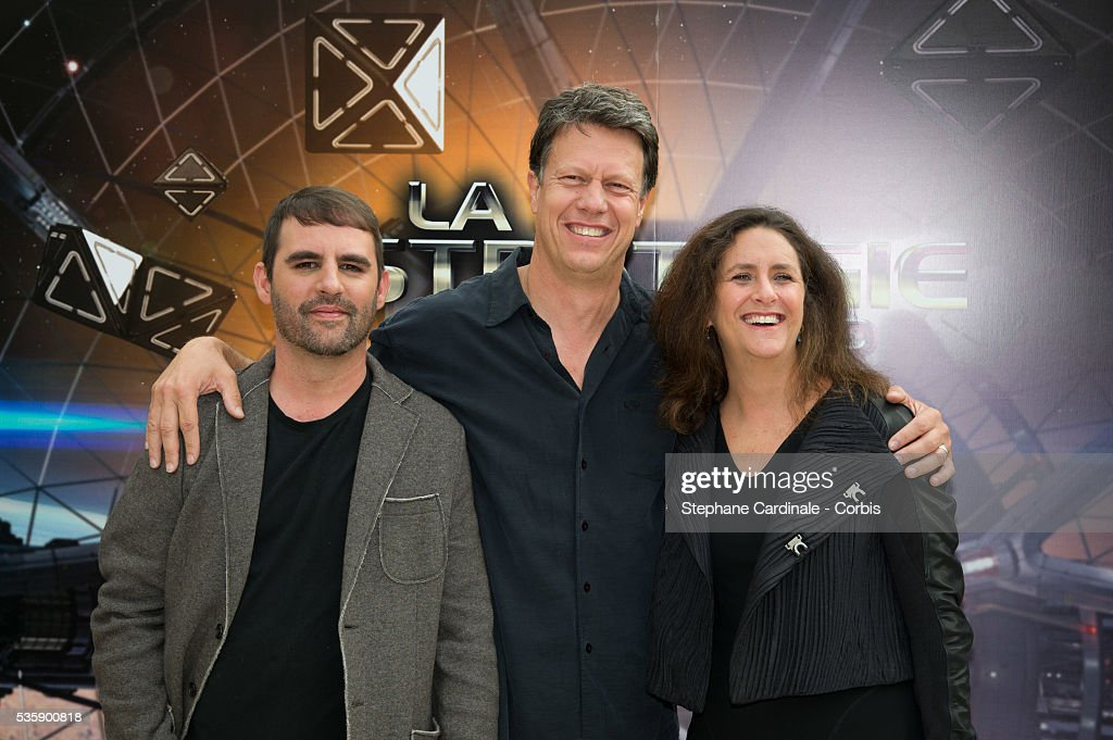 Producer Bob Orci, Gavin Hood and producer Gigi Pritzker attend the 'Ender's Game' Photocall, in Paris.