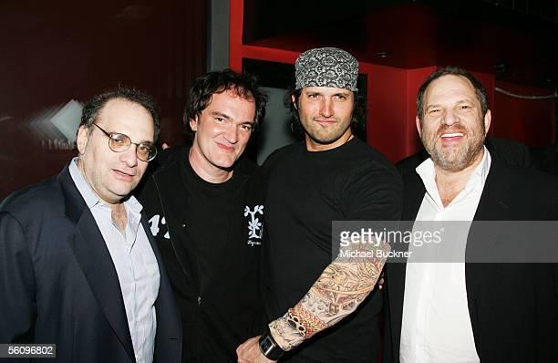 Producer Bob Weinstein director Quentin Tarantino director Robert Rodriguez and producer Harvey Weinstein attend the Weinstein Co American Film...