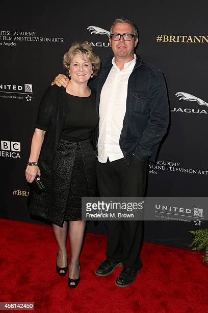 Producer Bonnie Arnold and composer John Powell attend the BAFTA Los Angeles Jaguar Britannia Awards presented by BBC America and United Airlines at...