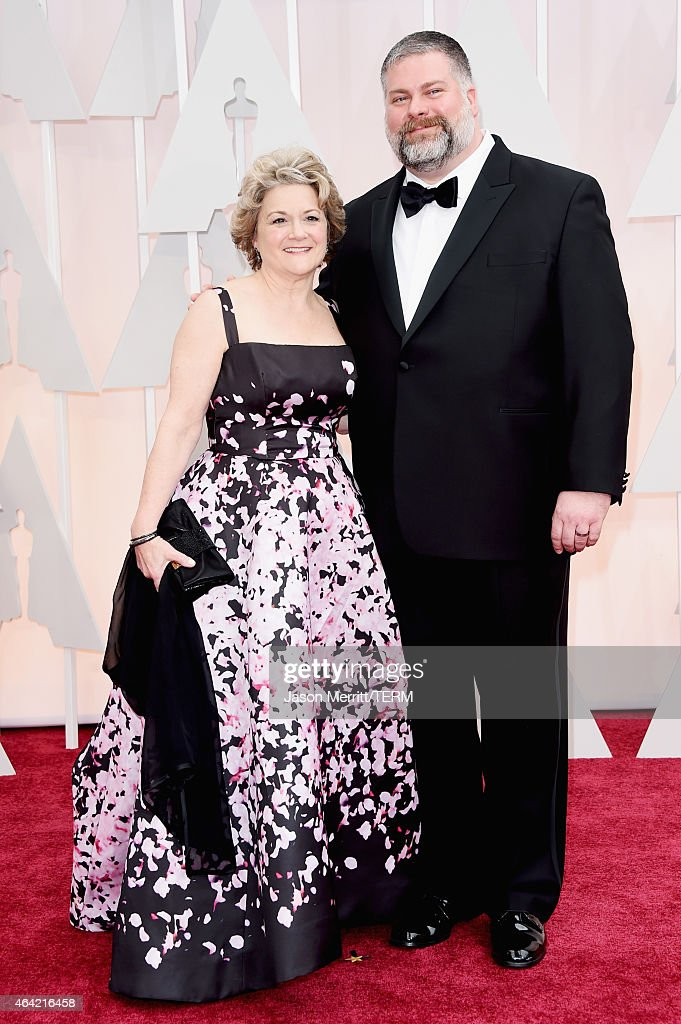 Producer Bonnie Arnold (L) and writer/director Dean DeBlois attend the 87th Annual Academy Awards at Hollywood & Highland Center on February 22, 2015 in Hollywood, California.