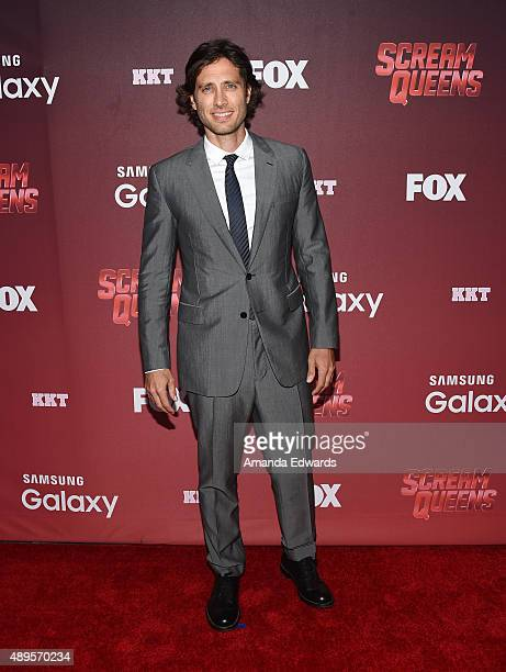 Producer Brad Falchuk arrives at the premiere of FOX TV's 'Scream Queens' at The Wilshire Ebell Theatre on September 21 2015 in Los Angeles California